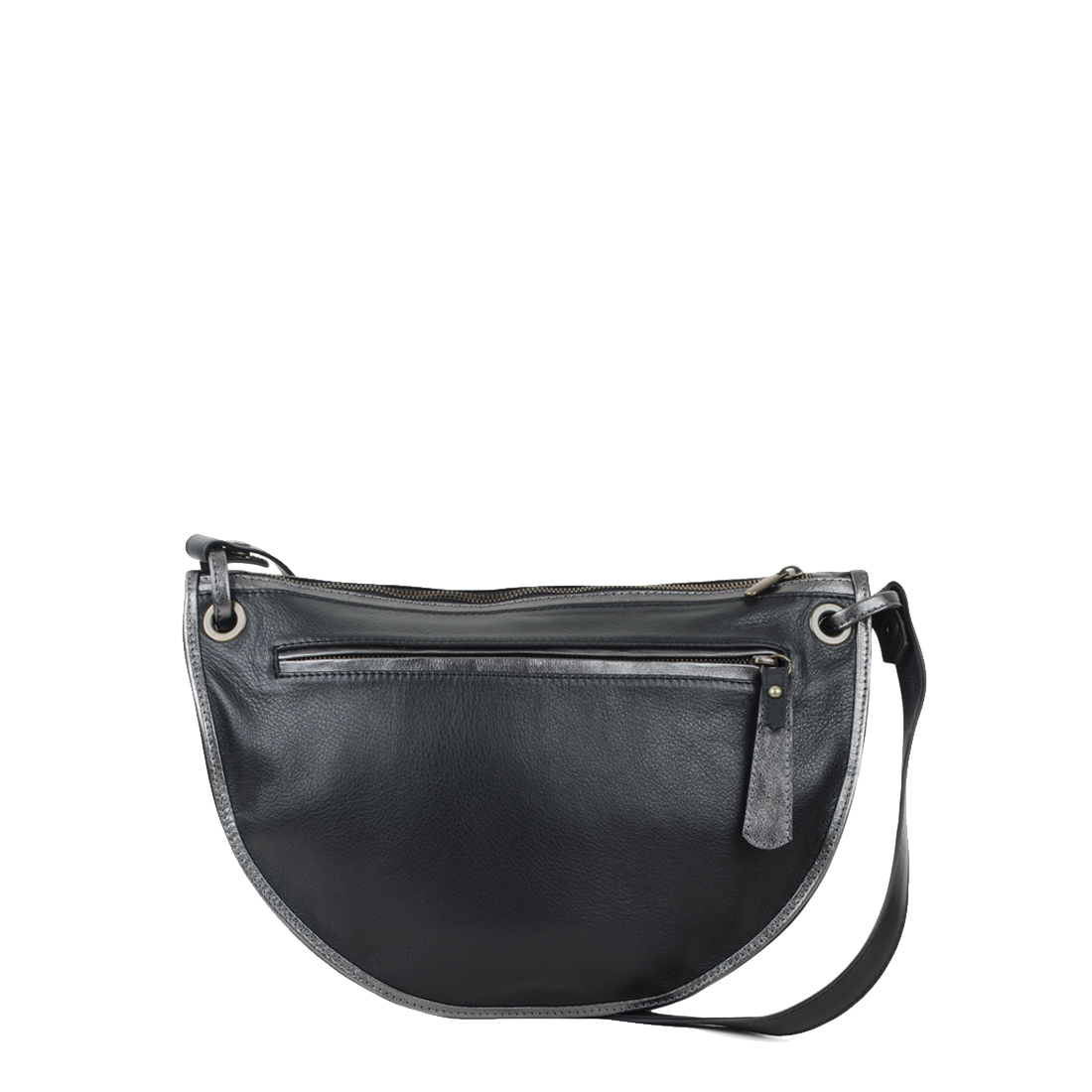 Rachel Black Leather Across Body Bag