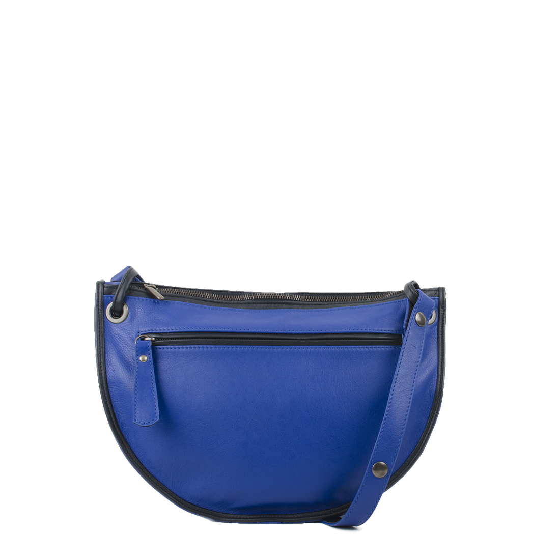 Rachel Blue Leather Across Body Bag