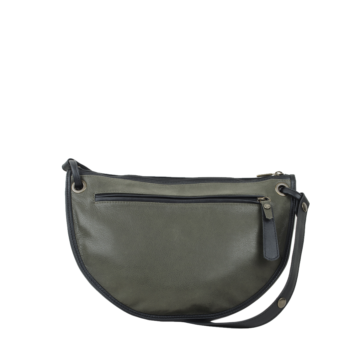 Rachel Olive Leather Across Body Bag