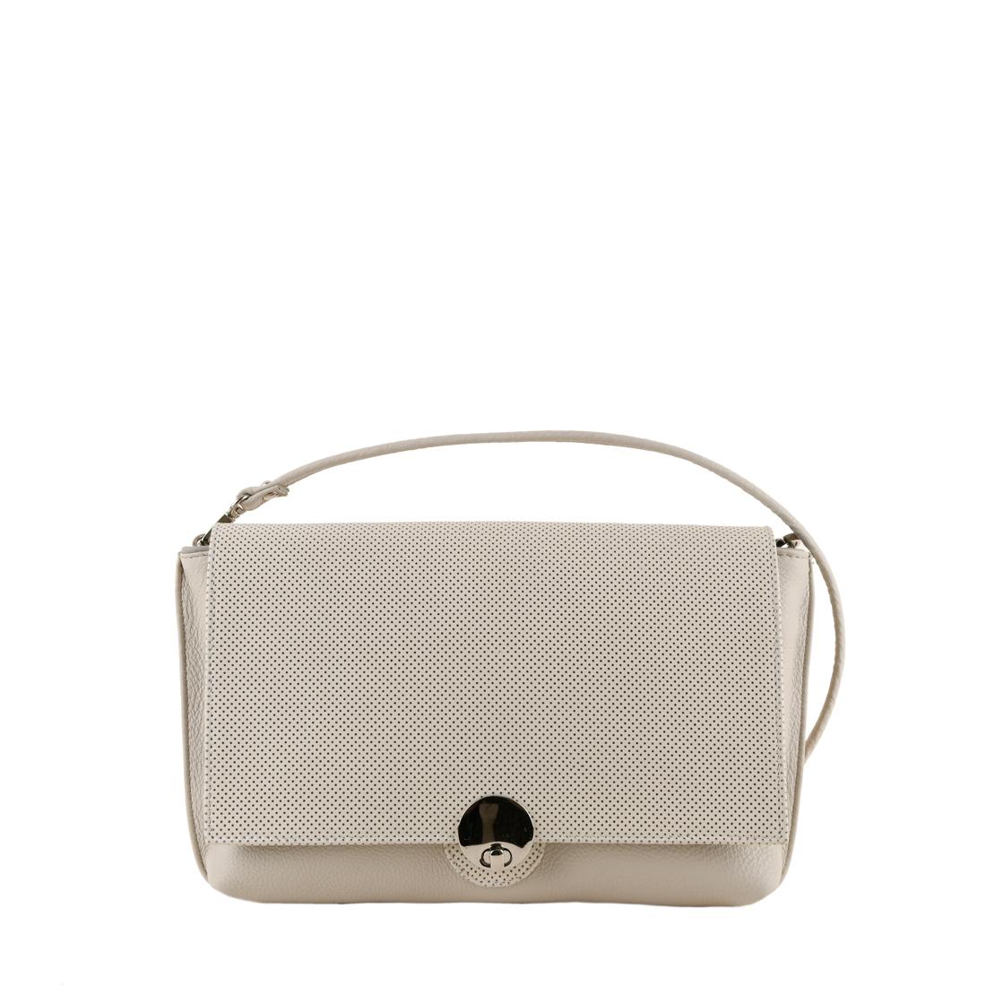 Riley Ivory Clutch Leather Handbag
