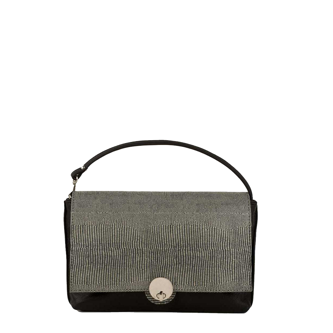 Riley Black Clutch Leather Handbag
