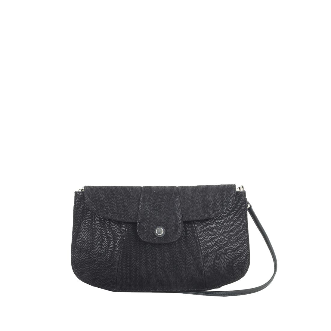 Ruby Black print  Leather Shoulder Bag