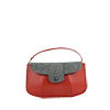 Ruby Orange Leather Shoulder Bag