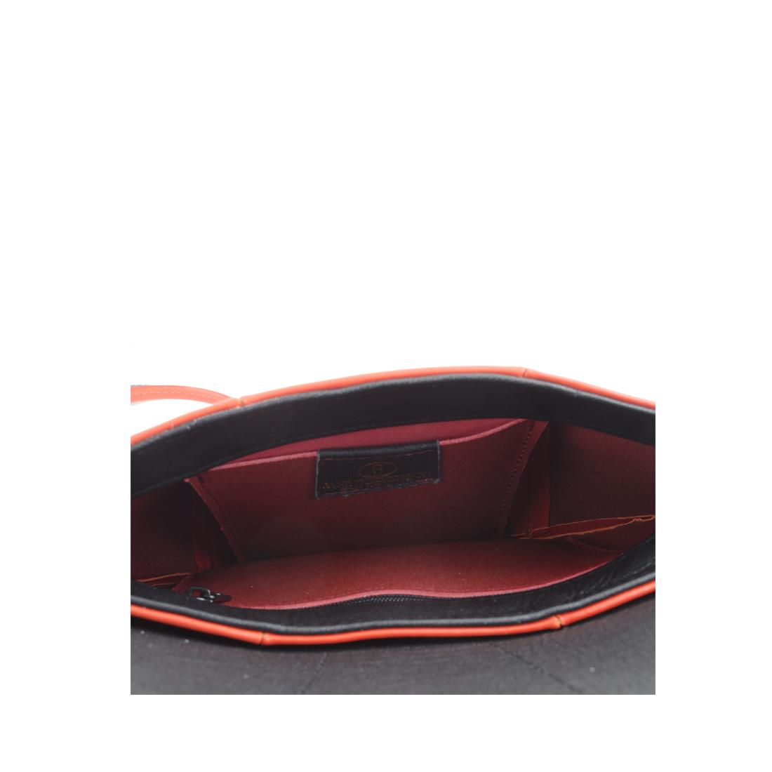 Ruby Orange Leather Shoulder Bag