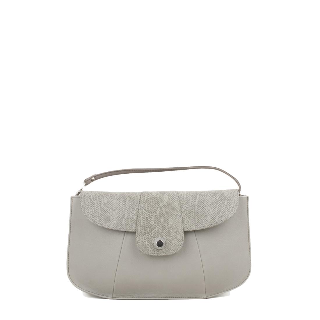 Ruby Pomice Leather Shoulder Bag