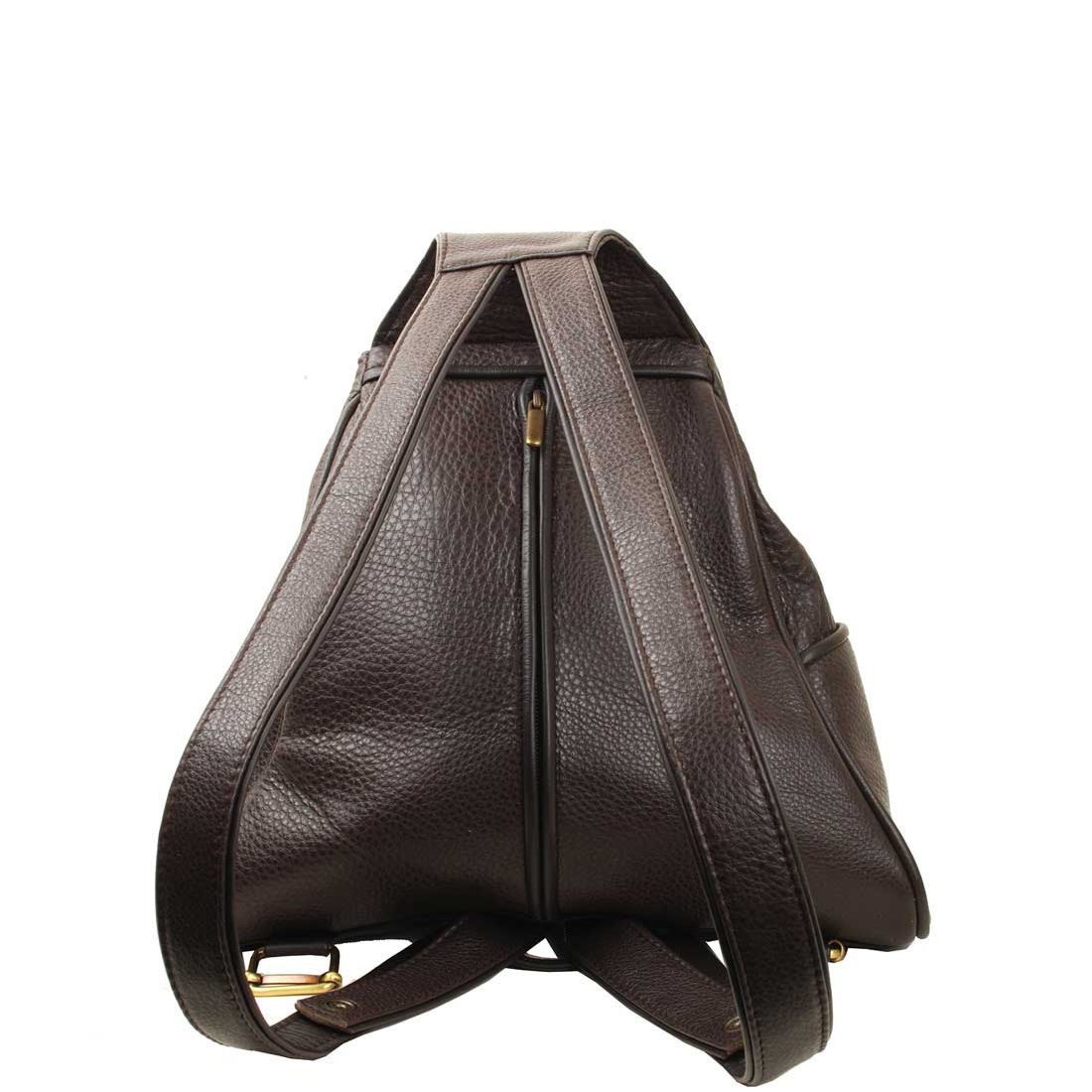 Saddlebag Brown Leather Backpack