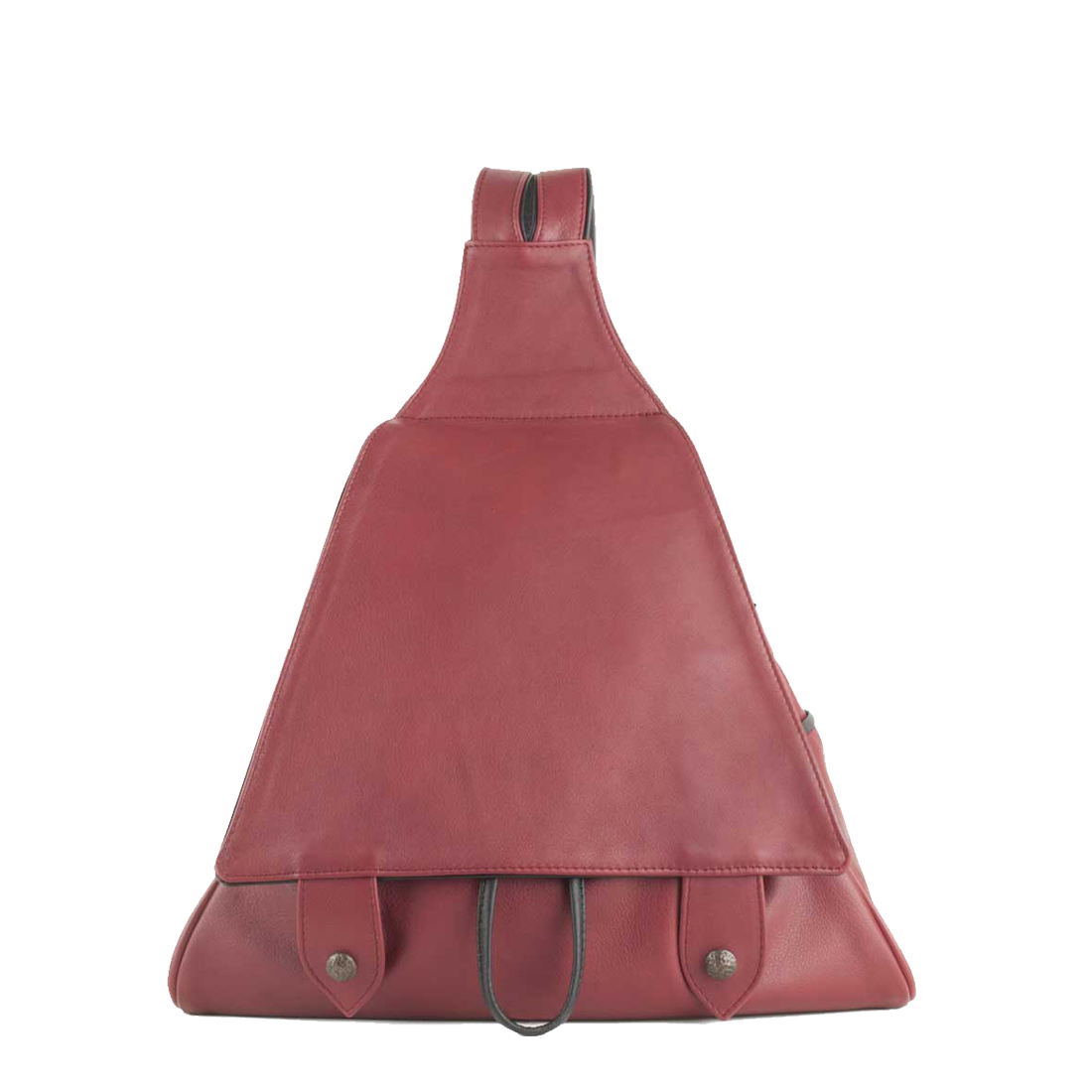 Saddlebag Red Leather Backpack