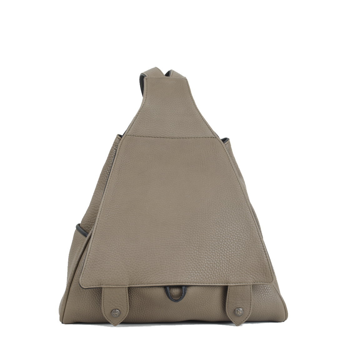 Saddlebag Taupe Leather Backpack