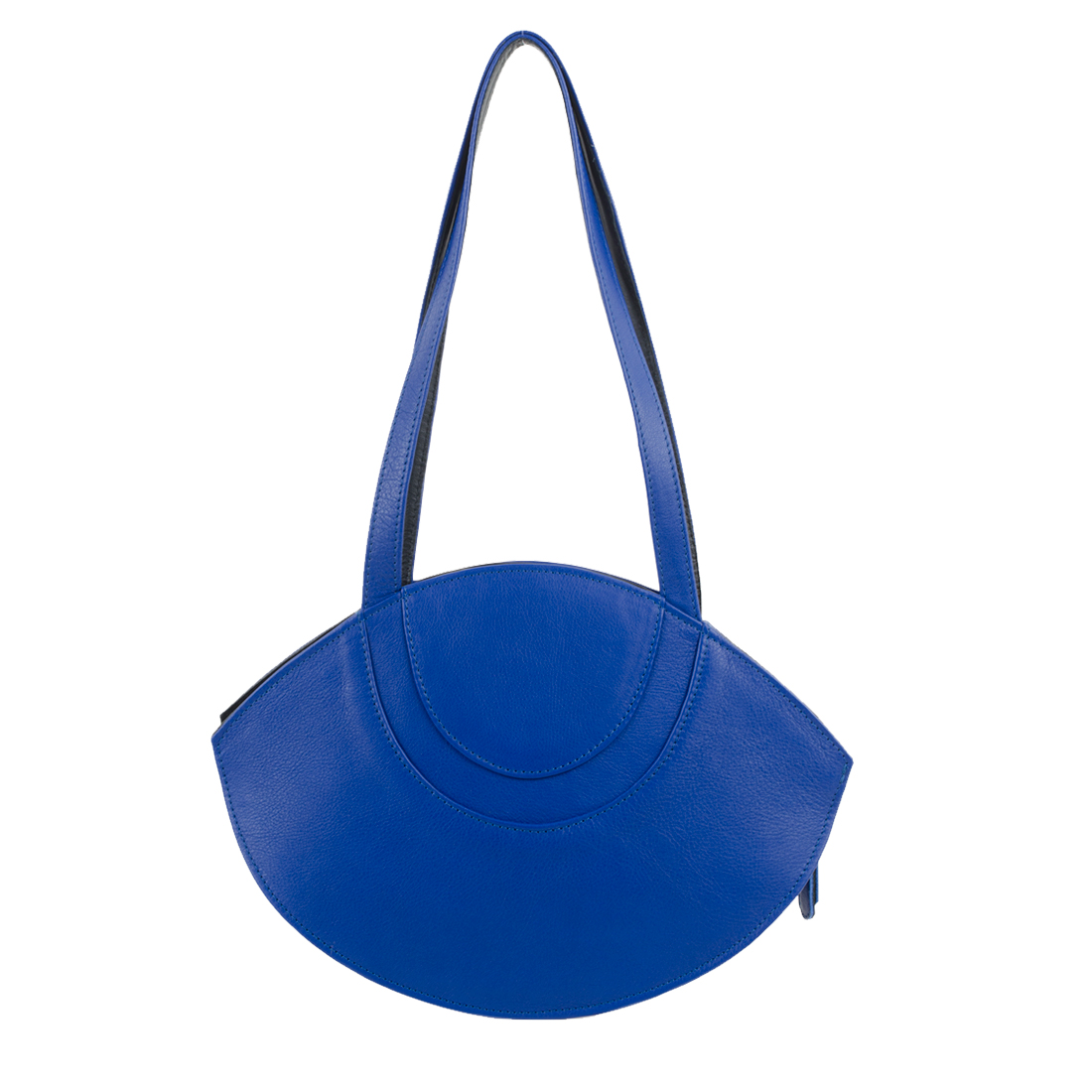 Sasha Blue Leather Shoulder Bag