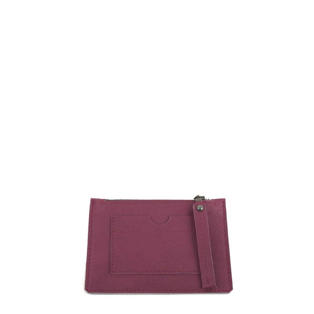 Magenta Small Leather Credit Card Purse