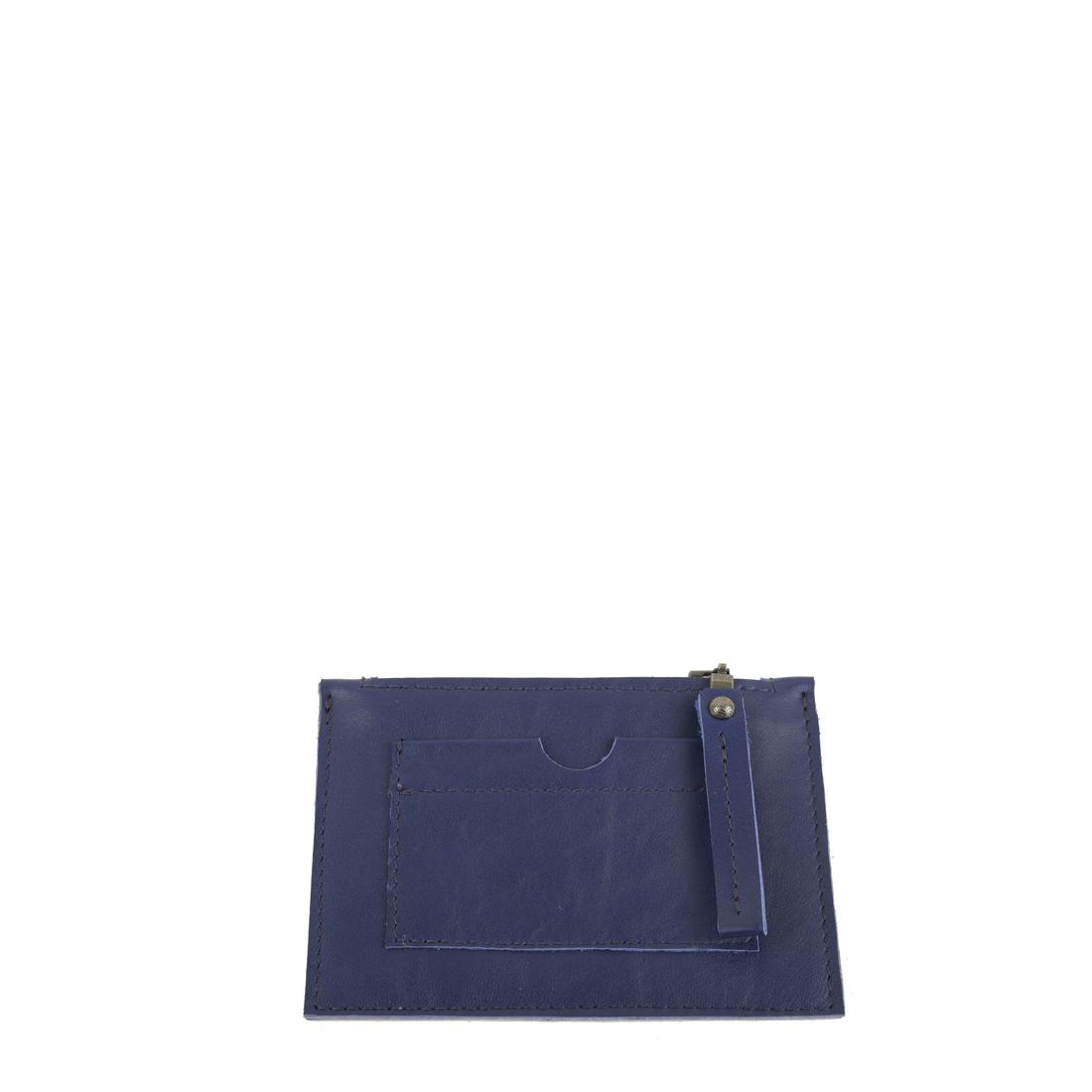 Purple Blue Small Leather Credit Card Purse