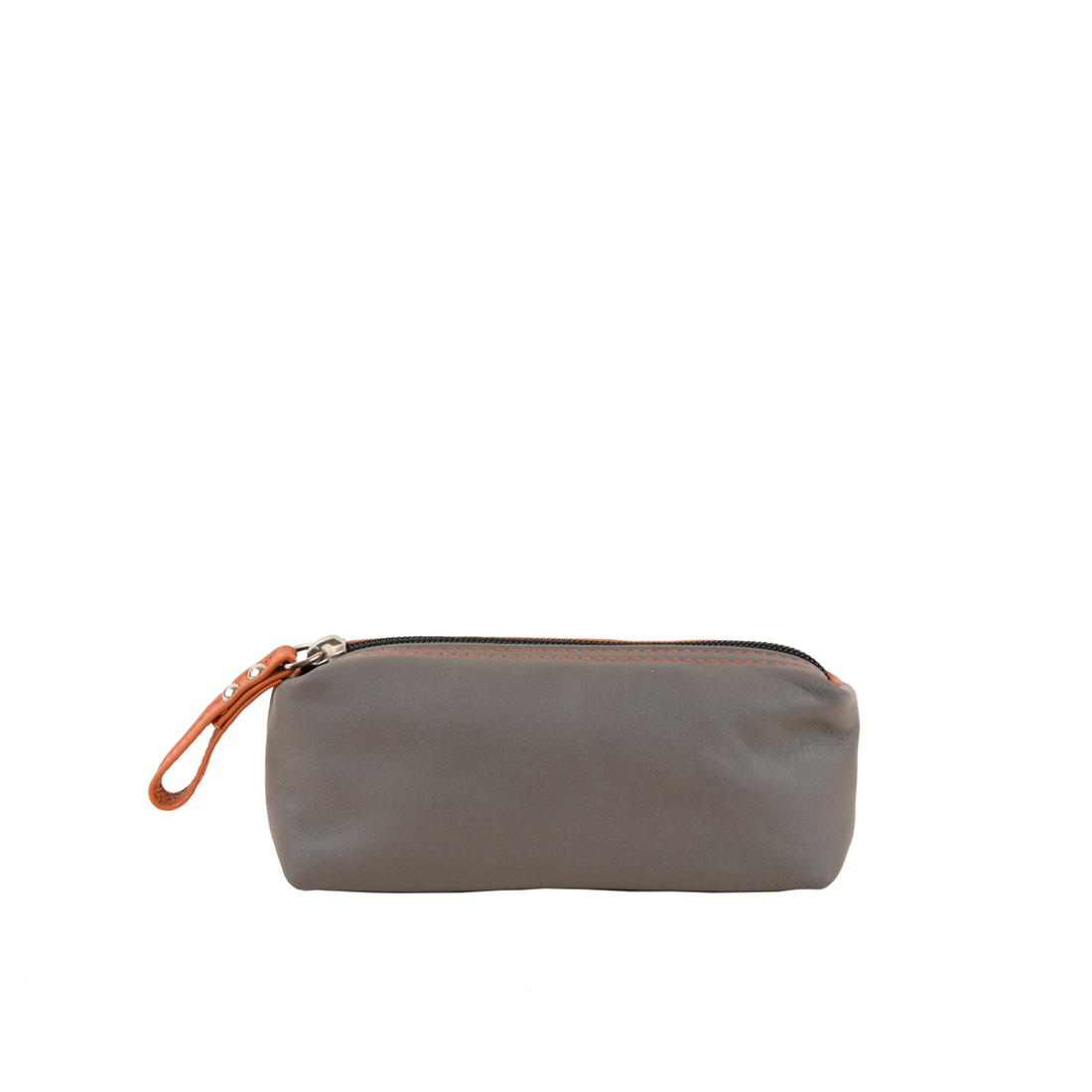 Make Up Bag in Orange / Grigio
