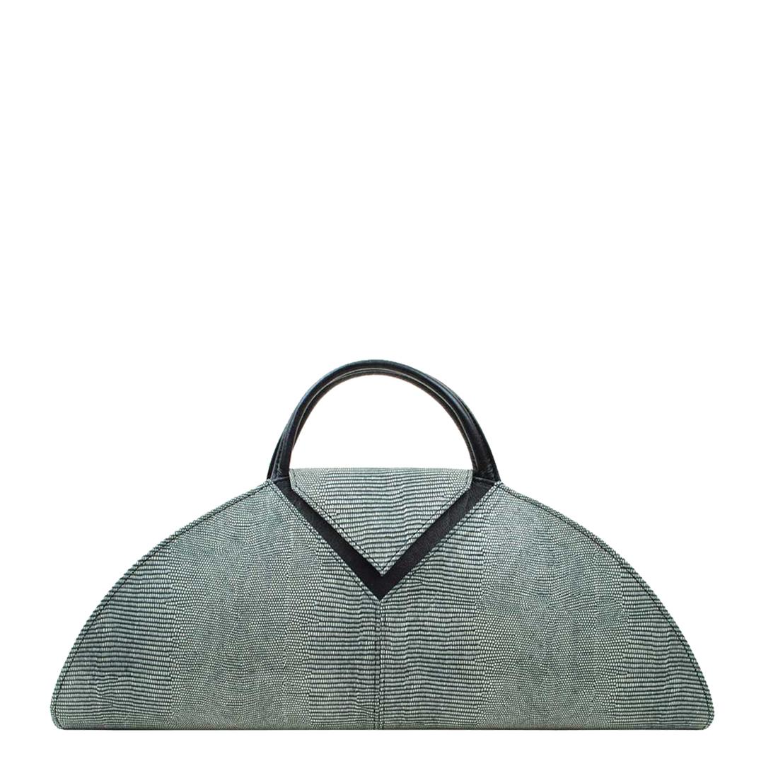 V Clutch Courmayeur Leather Handbag