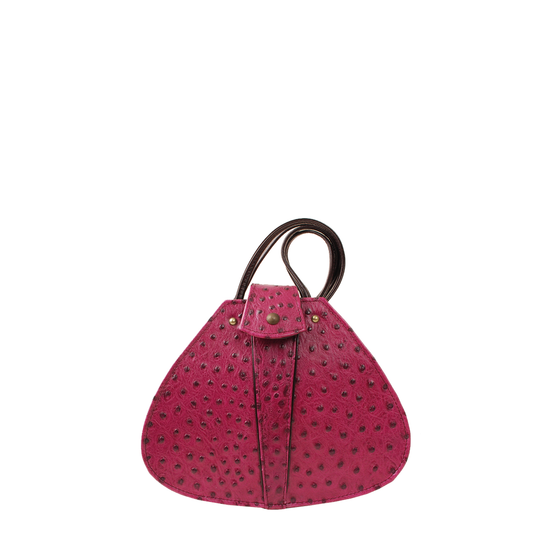 Vintage Magenta Leather Shoudler Bag