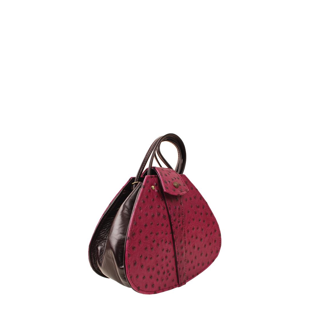Vintage Magenta Leather Shoudler Bag