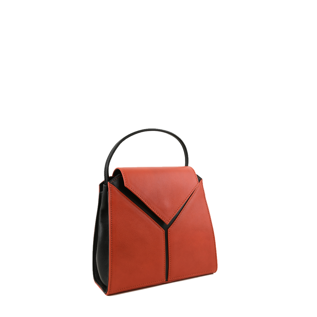 Yasmin Burnt orange Leather Evening Shoulder Bag