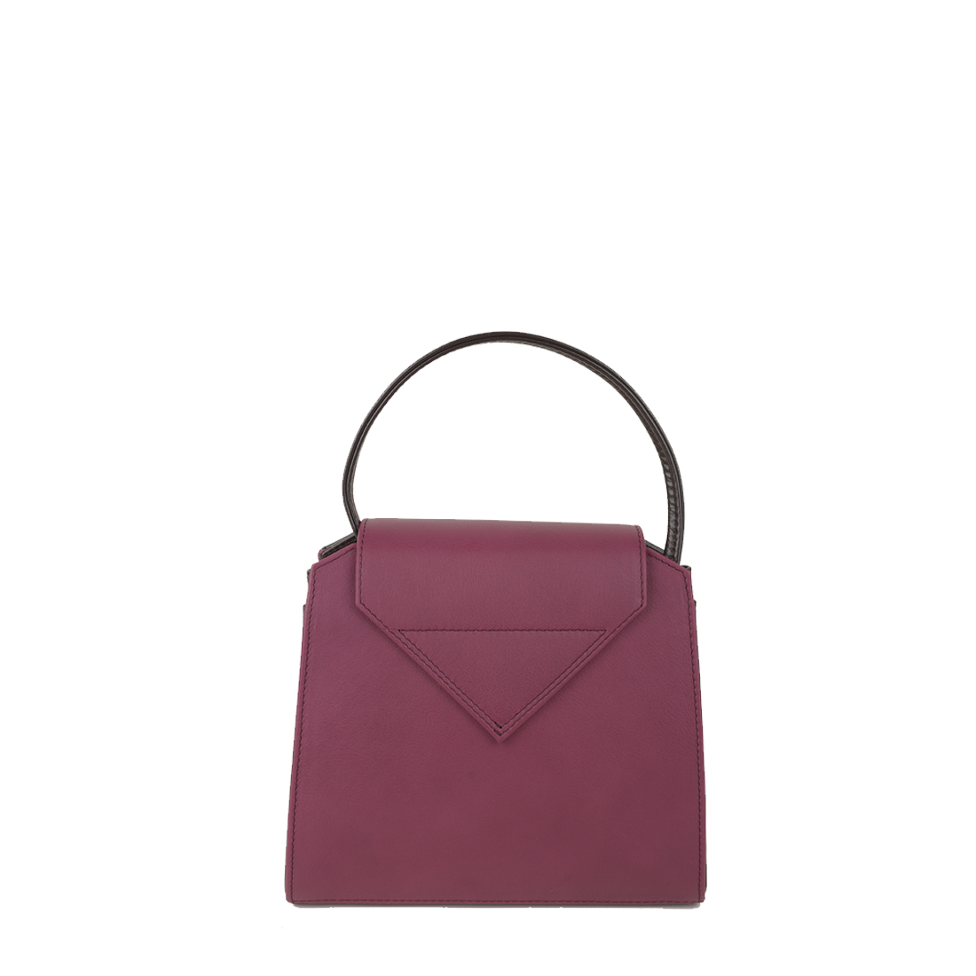 Yasmin Magenta Plum Leather Evening Shoulder Bag