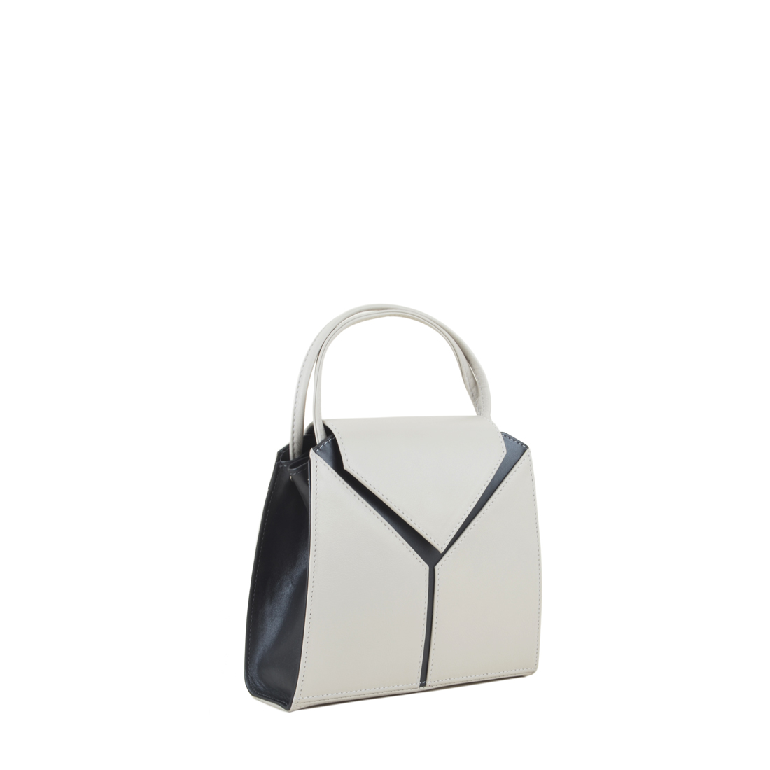 Yasmin Polvere Leather Evening Shoulder Bag
