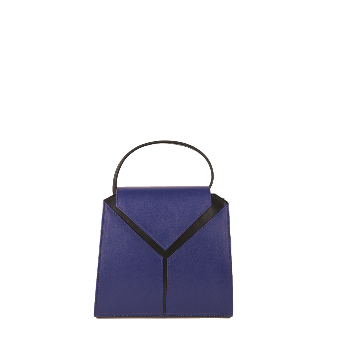 Yasmin Purple Blue Leather Evening Shoulder Bag