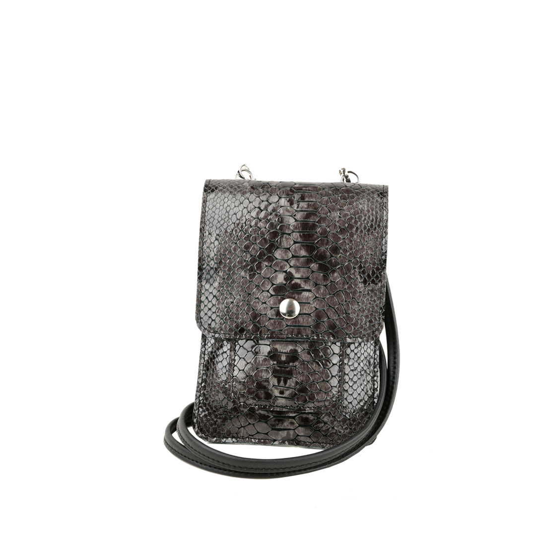 Zoe grey python print phone pouch