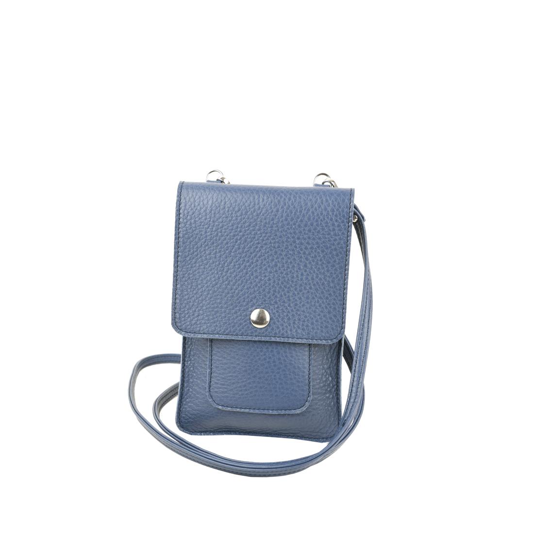 Zoe chalk blue phone pouche